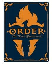 Harry Potter Large Tin Sign Order of the Phoenix