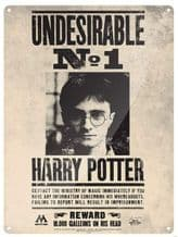 Harry Potter Large Tin Sign Undesirable No. 1