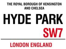 Hyde Park A5 Metal Wall Sign