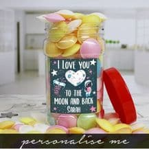 I Love You Personalised Flying Saucers Jar