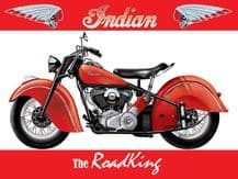 Indian Road king Metal Wall Sign (3 sizes)