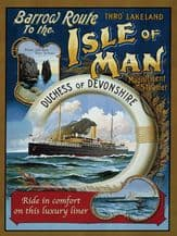 Isle of Man Steamer Metal Wall Sign (3 sizes)