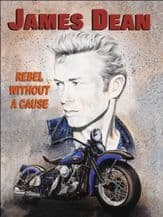 James Dean Movie Poster Metal Wall Sign (4 sizes)