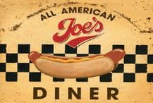 Joe's All American Diner Metal Wall Sign (4 sizes)