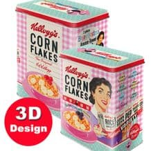Kellogg's Corn Flakes Hostess - Embossed Storage Tin