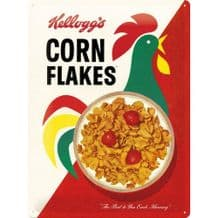 Kellogg's Cornflakes 3D Metal Wall Sign
