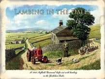 Lambing in the Dales Red Tractor Metal Wall Sign (3 sizes)