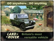 Land Rover on Farm Metal Wall Sign (4 sizes)
