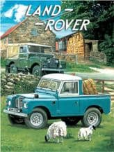 Land Rover Series 1 and Pick Up Truck  Metal Wall Sign (3 sizes)