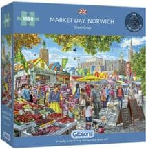 Market Day At Norwich - 1000 Piece Jigsaw Puzzle
