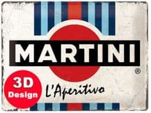 Martini 3D Metal Wall Sign