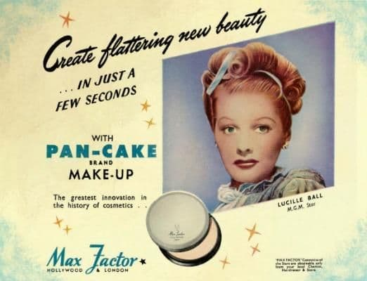 Max Factor Lucille Ball Metal Wall Sign | Vintage Advertising Sign | Retro Art
