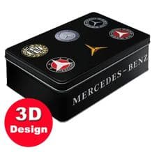Mercedes Benz Badge - Embossed Storage Tin