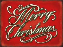 Merry Christmas -  Metal Wall Sign (3 sizes)