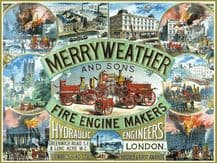 Merryweather Fire Engines Metal Wall Sign (3 sizes)
