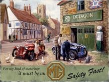 MG Service Metal Wall Sign (3 sizes)