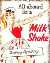 Milkshake Sailor Metal Wall Sign (4 sizes)