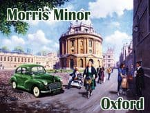 Morris Minor in Oxford  Metal Wall Sign (3 sizes)