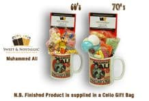 Muhammed Ali Mug with/without an Ali Shuffle Selection of 60's or 70's retro sweets.