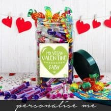 My Vegan Valentine Personalised Sweet Jar