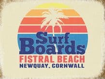 Newquay Surfing Metal Wall Sign (4 sizes)