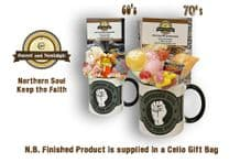 Northern Soul - Keep the Faith Mug with/without 60's or 70s retro sweets.