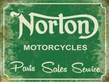 Norton Service Sign Metal Wall Sign (4 sizes)
