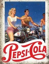 Pepsi Cola Bike Metal Wall Sign (4 sizes)
