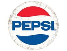 Pepsi Cola  Modern Round  Metal Wall Sign (2 sizes)