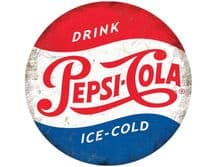 Pepsi Cola  Vintage Round  Metal Wall Sign (2 sizes)