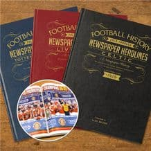 Personalised Leather Football Books A3
