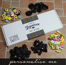 Personalised Liquorice Letterbox Sweets