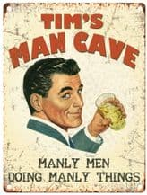 Personalised Man Cave Metal Wall Sign (3 sizes)