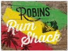 Personalised Rum Shack Metal Wall Sign (3 sizes)