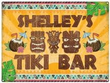 Personalised Tiki Bar Metal Wall Sign (3 sizes)