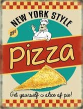 Pizza Retro Diner Metal Wall Sign (4 sizes)