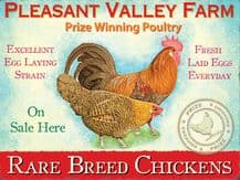 Pleasant Valley Farm Metal Wall Sign (4 sizes)