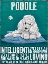Poodle Metal Wall Sign (4 sizes)