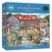 Pots and Penny Farthings - 1000 piece Jigsaw Puzzle