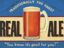 Real Ale A5 Metal Wall Sign