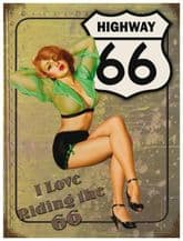 Riding the 66 Metal Wall Sign (3 sizes)