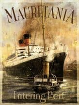 RMS Mauretania Liner Metal Wall Sign (3 sizes)