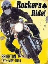 Rockers Ride Metal Wall Sign (4 sizes)