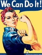 Rosie the Riveter Metal Wall Sign (4 sizes)