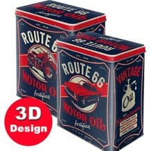 Route 66- Embossed Storage Tin
