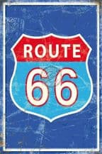Route 66 Metal Wall Sign (4 sizes)