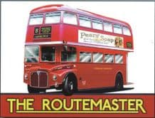 Routemaster Bus Metal Wall Sign (4 sizes)
