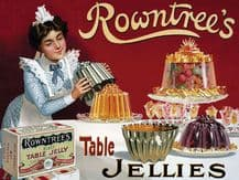 Rowntree's Jelly Metal Wall Sign (4 sizes)