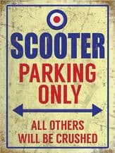 Scooter Parking Metal Wall Sign (4 sizes)