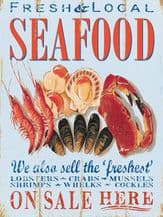 Seafood Metal Wall Sign (4 sizes)